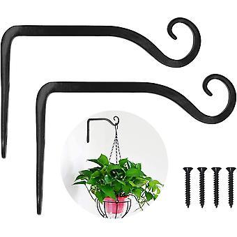 FengChun Pflanzenhalterung Blumenampelhalter Eisen Wandhaken Blumenampel Wandhalter Haken 10cm zum