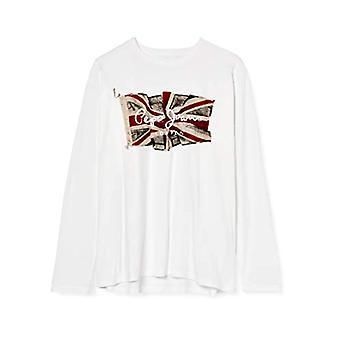 Pepe Jeans Flag Logo LS T-Shirt, 803off White, XXL Men's