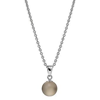 Adriana dreambase-pendant in the shape of Ice Cream 925 silver rhodium brown luenette - AGK3