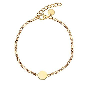 NOELANI - Women's bracelet in silver 925 gold plated, Figaro chain adjustable in length