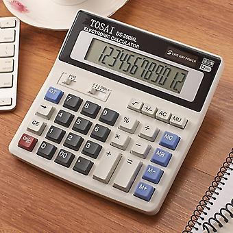 Calculator Solar Battery, Dual Power, Simple Digit Lcd Display, Office School