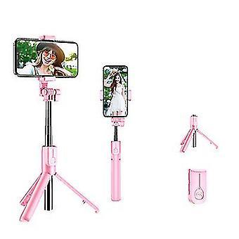 Χωρίς ανοικτό ροζ ραβδί selfie bluetooth με το οδηγημένο φως δαχτυλιδιών, επεκτάσιμο φορητό ζωντανό τρίποδο az5962