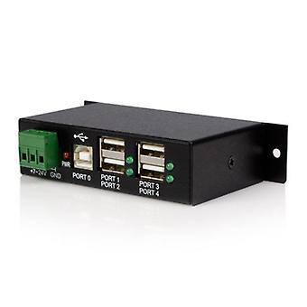Startat monterbar 4 Port robusta industriella USB-hubb