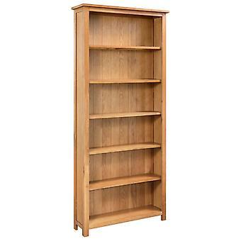 Bücherregal mit 6 Regalen 80X22,5X170 Cm Massive Oak