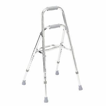 Drive Medical Side Step Folding Walker Adjustable Height drive Hemi Aluminum Frame 300 lbs. Weight Capacity 29-1/2, Silver 1 Each