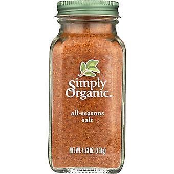 Simply Organic Ssnng All Salt Org Bttl, Case of 6 X 4.73 Oz