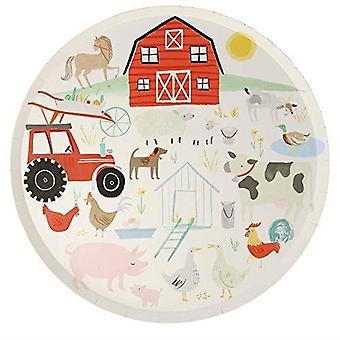 Meri Meri On the Farm Large Paper Dinner Plates x 8