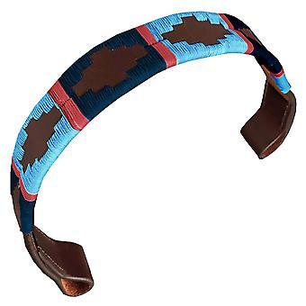 Carlos díaz diseñador de cuero genuino encerado bordado gaucho polo caballo brida browband awo83077