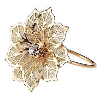Anéis de guardanapo com flor oca
