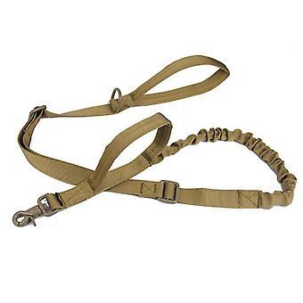 Venkovní nylonové vodítko pro psy, vojenský ventilátor taktický psí tréninkový pás (Hnědý)