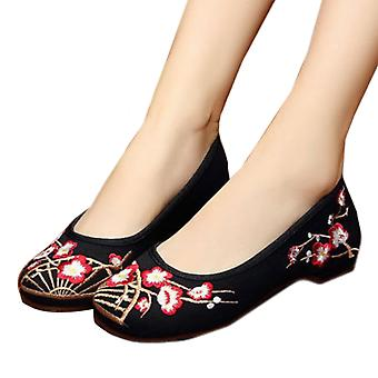 Plum Flower Old Beijing Embroidered Cloth Shoes