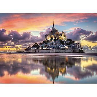Clementoni Mont Saint Michel Puzzle de Haute Qualité (1000 Pièces)
