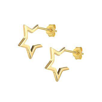 Goujons d'oreille ouvrant Pentagram Golden S925 Boucles d'oreilles pour les mariages