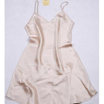 Femeiăs Pure Silk Spaghetti Stra curele Chemise Nightdress Sleepwear