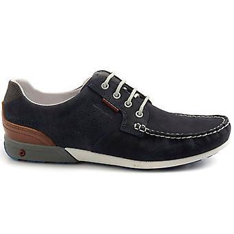 Miesten lakattu kenkä Grisport 43209 Sininen Nabuckissa