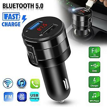 Draadloze Bluetooth 5.0 Auto FM-zender Muziekspeler AUX Radio USB Opladen