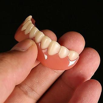 (Nedre faner) Leende faner falska tänder snap-on instant faner kosmetiska tandproteser