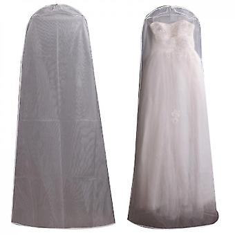 Vestido de novia vestido bolsa de ropa protector protector de almacenamiento, blanco (180 * 120)