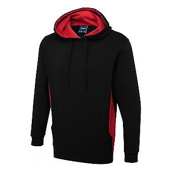 Uneek Two Tone Hooded Sweatshirt UC517