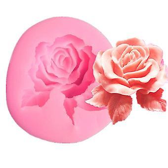 New rose-shaped aromatic gypsum mold - Rose-shaped cake decorates the mold - 1PC