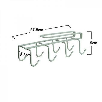 Kitchen Cup Rack Free Perforated Water Cup Rack(Green)