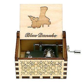 Handgemaakte houten Anastasia muziekdoos voor kerstmis dochtergeboortedag