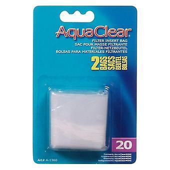 AquaClear Filter Insert Nylon Media Bag - 20 gallon - 2 count
