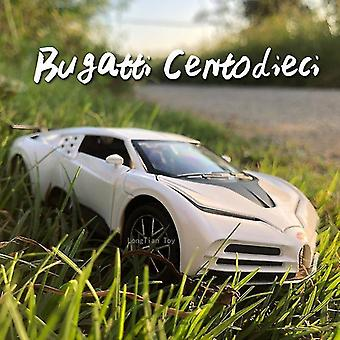 Toy cars 1:32 bugatti die cast alloy car model 110th anniversary edition collectibles children's toys white