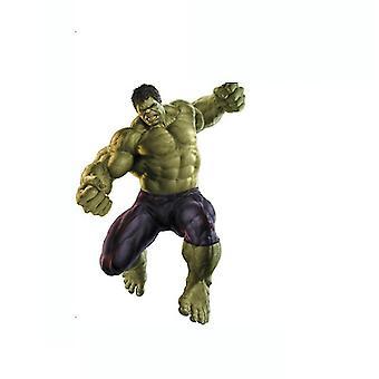 Green Hulk Papier peint Autocollant mural Pvc Mural Décalcomanie amovible Vif Autocollants muraux 3D Superhero Cool