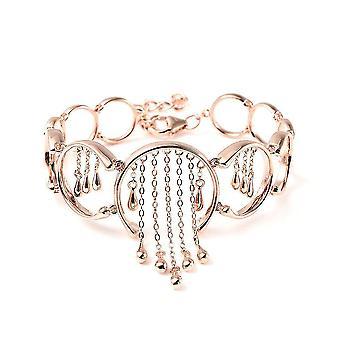 Lucy Q csöpög charm karkötő nőknek Rose Gold Plated Silver 7,5 ''