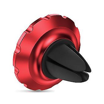 Auto Luftauslass magnetischer Saugnapf Typ multifunktionale Handyhalter (Rot)