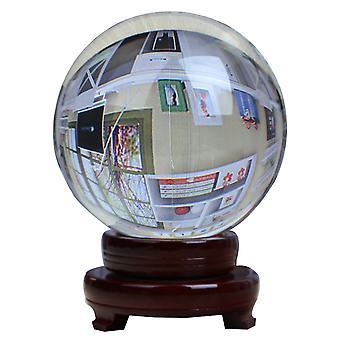 100mm Kristall Kugel Fotografie Prop Meditation Ball Jonglieren Glas Kugel Display