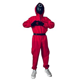 Squid Game Costume Jumpsuit Outfit Halloween Mask Cosplay Disfraces para hombres Mujeres