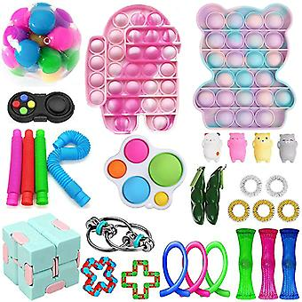 30 Pack Fidget Toys Set Sensory Tools Bundle Stress Relief Hand Toy