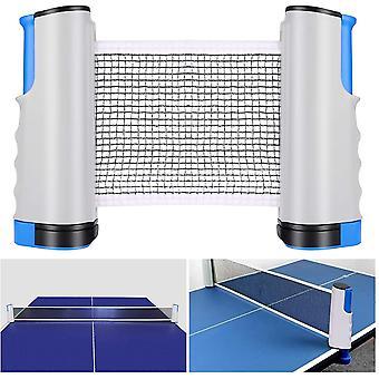 Ping Pong Netz, Einziehbare TischtennisNetz Ping Pang Netz Tragbare Verstellbare TischtennisNetz für drinnen und draußen, Grau