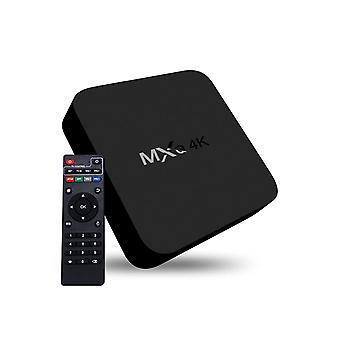 Mxq 4k Full Hd Media Player Rk3229 Quad-core Kodi Android 4.4 Tv Box avec télécommande, Ram: 1gb, Rom: 8gb, Support Hdmi, Wifi, Miracast, Dlna (blac