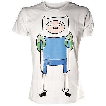 AVENTURA tempo Finn imprimir t-shirt Extra grandes, branco (TS291118ADV-XL)