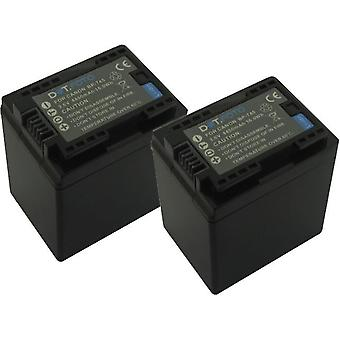 2 x Dot.Foto BP-745 PREMIUM 3.6v / 4450mAh Replacement Rechargeable Camcorder Battery for Canon [See Description for Compatibility]