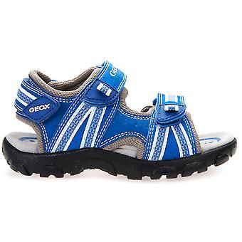 Sandały Geox chłopców Strada J4224A niebieski