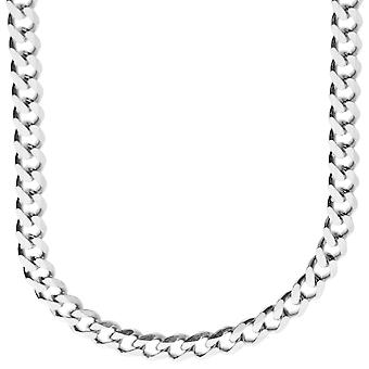 Sterling 925 Silver curb chain - CURB 6, 7 mm