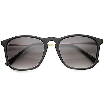 Mens occhiali da sole rettangolari con UV400 protezione lenti sfumate