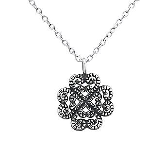 Flower - 925 Sterling Silver Plain Necklaces - W30889X