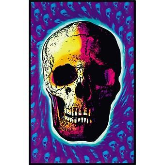 Skull Trip Blacklight Poster Poster Print