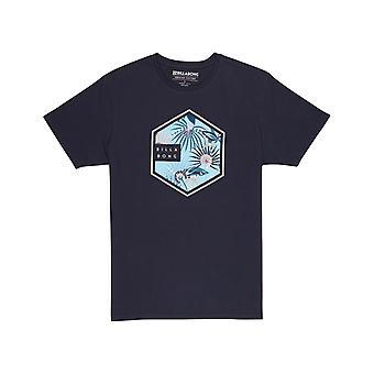 ネイビーのビラボン シックス ショート スリーブ T シャツ