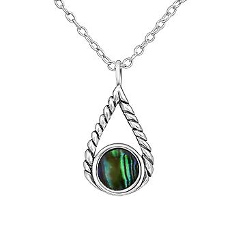 Kyynel - 925 Sterling hopea Jewelled kaulakorut - W35048x