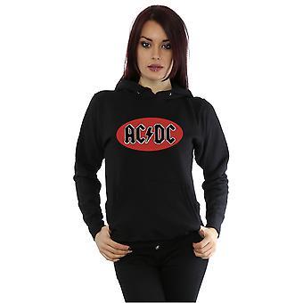 Círculo vermelho Logo Hoodie do AC/DC mulheres