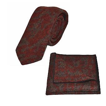 Luxe Arabische donker Amber patroon stropdas & zak plein Set