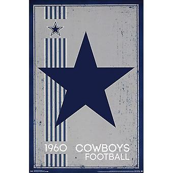Cowboys de Dallas - Logo rétro 2014 Poster Print