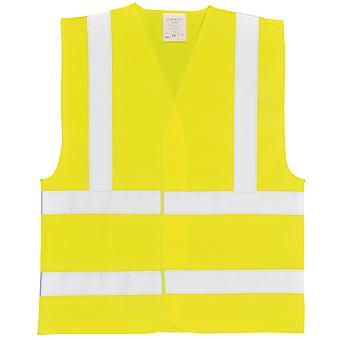 Portwest Unisex Hi-Vis zwei Band & Klammer Weste (C470) / Arbeitskleidung / Safetywear