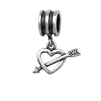 Hjertet - 925 Sterling Silver ren perler - W28859X